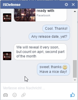 Chat IS Defense Release Date