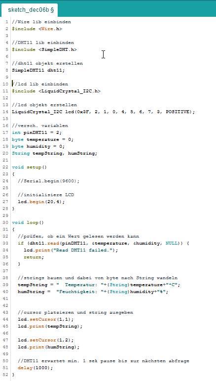 Ein wenig Quellcode