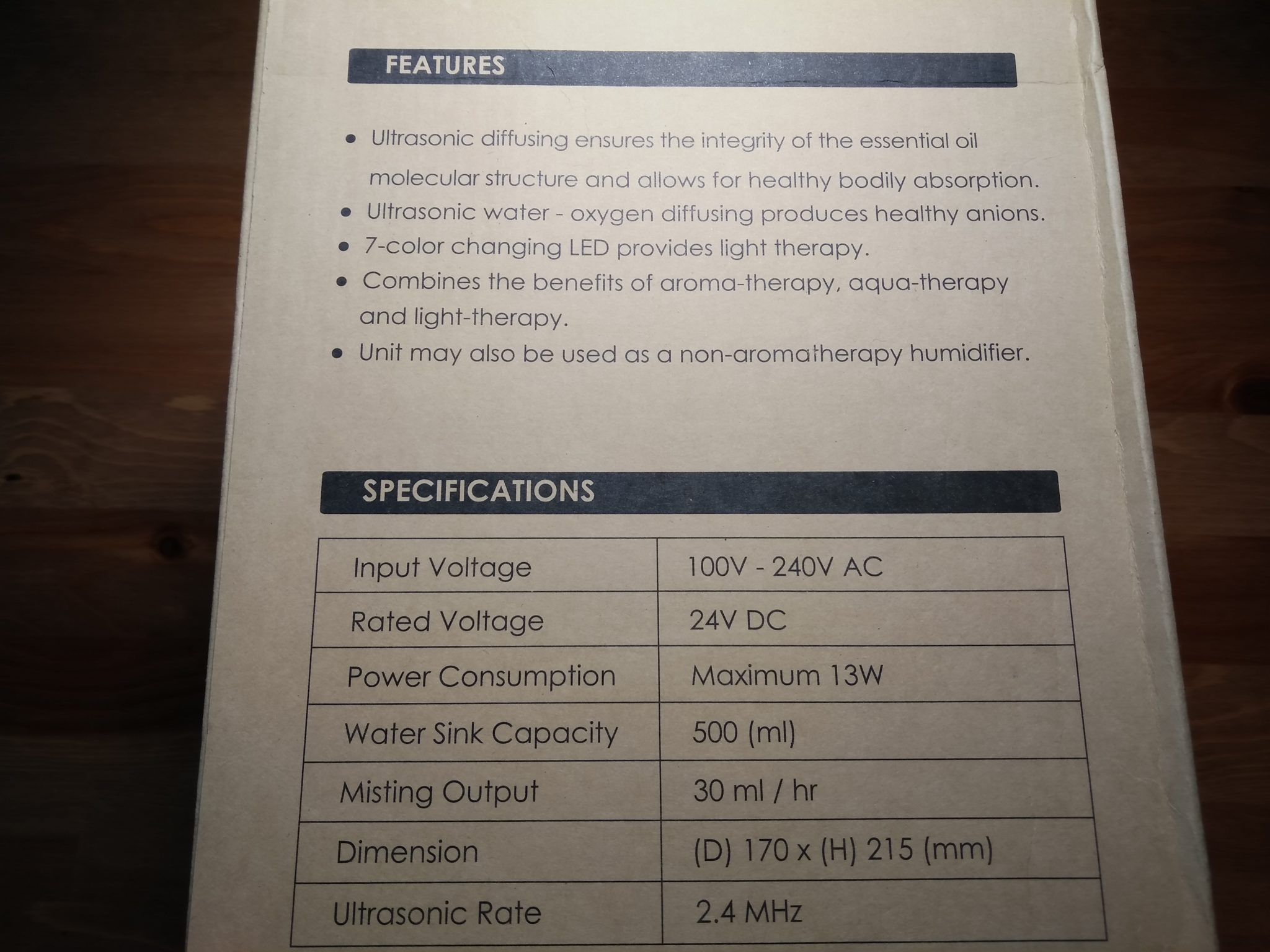 AUKEY BE-A5 Specs