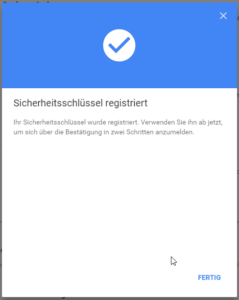 Key bei Google hinzufügen