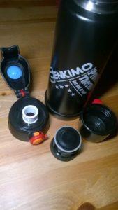 Flasche und Verschlusskappen